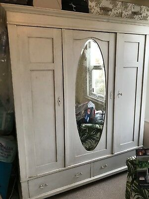 antique french distressed wardrobe
