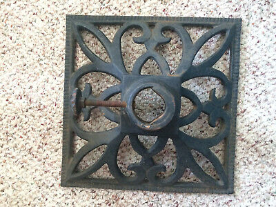 Vintage 1940's Cast Iron Christmas Tree Stand With Original Screw Mount