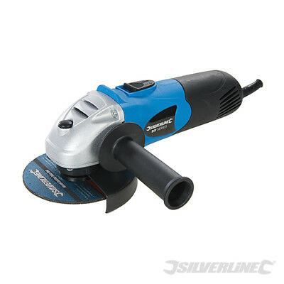 "SILVERLINE 650W 4.5"" 115mm ELECTRIC ANGLE GRINDER CUTTING GRINDING TOOL NEW"