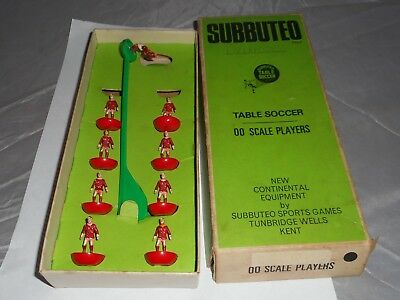 Vintage Subbuteo team Liverpool? red NOT complete