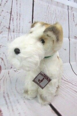Vtg Airedale Terrier Dog 11'' Plush Standing Cal Toy Made in Japan With Tag