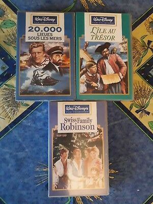 Lot De 3 Vhs Collection Films Anciens Walt Disney En Fr