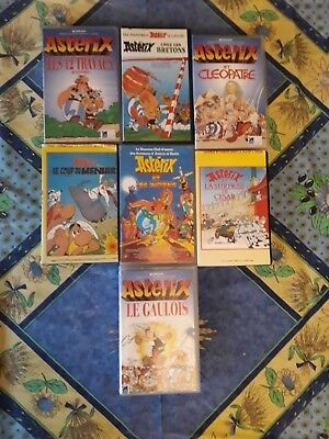 Lot De 7 K7 Vhs - Collection Asterix Animation