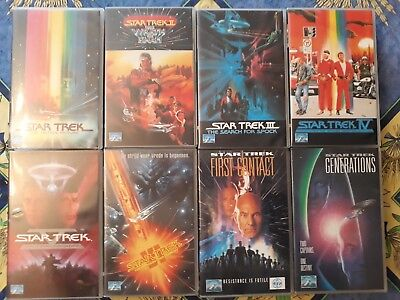 Lot De 8 K7 Vhs - Collection Star Trek