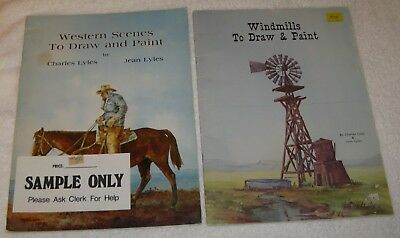 Western Scenes / Windmills to Draw & Paint by Charles & Jean Lyles Painting Book