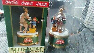 Coca Cola Musical Santas Refreshment Nib