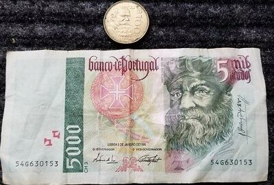 5100 Escudos Banknote, Authentic Currency