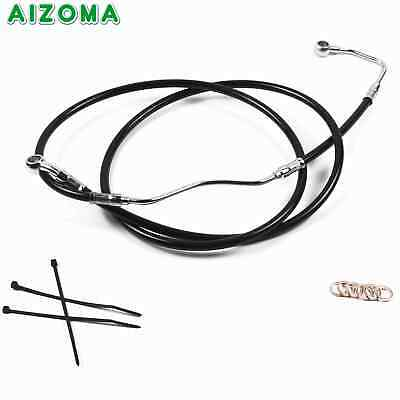 """Stainless 14"""" Black Brake Line Cable Kit For 09-13 Harley Touring No ABS Model"""