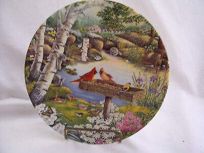 "Vintage Edwin M. Knowles Collector Plate ""Springtime Friends"" NIB"