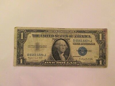USA one silver dollars certificate banknotes 1935 G - good condition - rare B 54