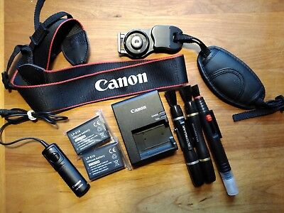 Canon Camera Straps Batteries Charger Remote Lens Pens Accessories Lot