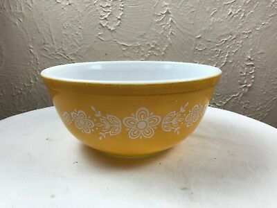 Vintage PYREX BUTTERFLY GOLD Nesting 2 1/2 Quart Medium  MIXING BOWL 403
