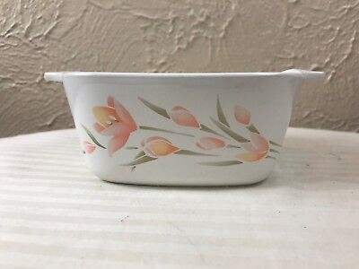 CORNING WARE Peach Floral 2 3/4 CUP DISH P-43-B