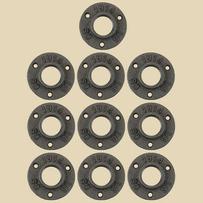 """10Pcs 1"""" Malleable Threaded Floor Flange Iron Pipe Fittings Wall Mount New"""
