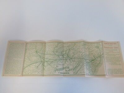 1893 Pennsylvania Rail Lines Route Map and Schedule Pittsburgh, PA