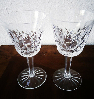 Waterford Crystal Lismore Claret Wine Glasses Mint (set of 2)