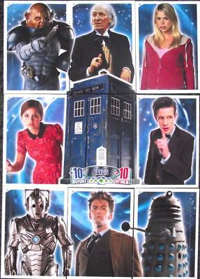 Lot of 9 Tardis Cards - Doctor Who Alien Attax 50th Anniversary Trading Cards