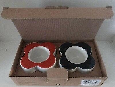 "Orla Kiely House ""Abacus Flower"" Egg Cups In Persimmon & Slate Set Of 2(Bnib)"