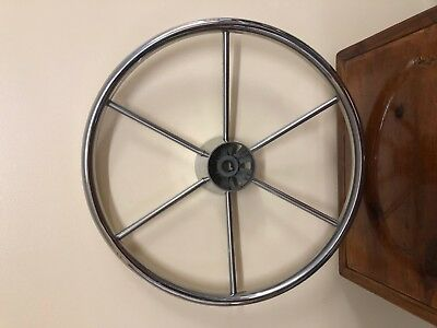 """Captains wheel stainless """"15 1/4"""