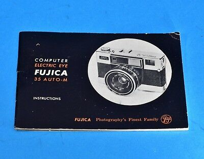 vintage Fujica 35 Auto-M Instructions guide book from 1962 VGC+++