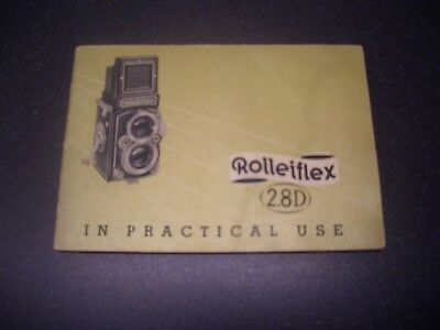 """Instruction manual """"Rolleiflex 2.8D In Practical Use"""