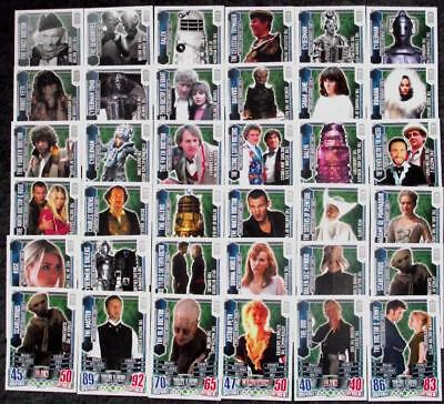 Lot - 50 TM Timeless Moments Trading Cards Doctor Who Alien Attax 50 Anniversary