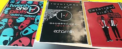 Twenty One pilots 11x17 tour 21 concert poster blurryface tickets