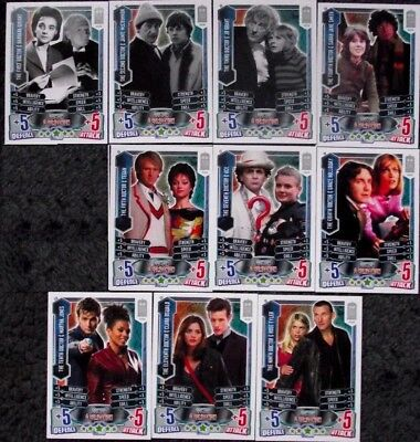 Lot of 10 Companion Cards Doctor Who Alien Attax 50th Anniversary Trading Cards