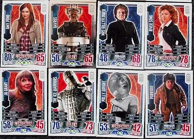 Bundle Lot of 50+ Doctor Who Alien Attax 50th Anniversary Trading Cards