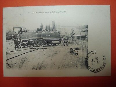 Cpa 76 Saint Saens Locomotive En Gare 1908 Train