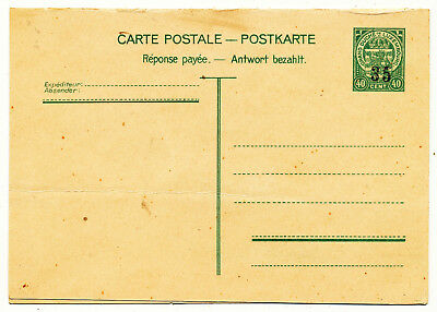 Luxembourg Postal Card # P 103 Variety Mnh (1935)