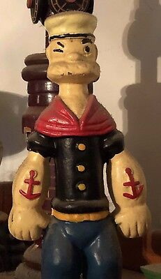 Vintage Popeye cast-iron bank hand  Panted