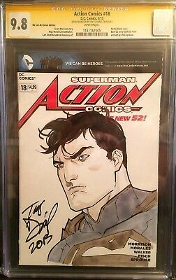 Action Comics #18 (2013) Superman Sketch / CGC 9.8 / Tony Daniel