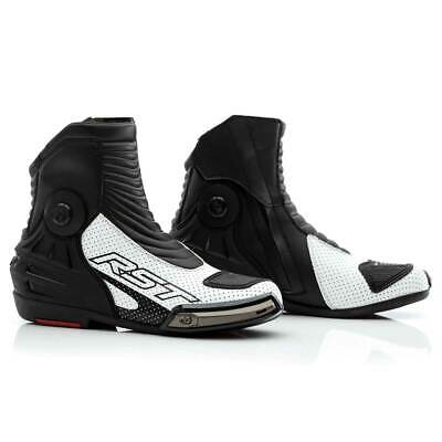 RST Tractech Evo 3 Short CE Leather Boots White