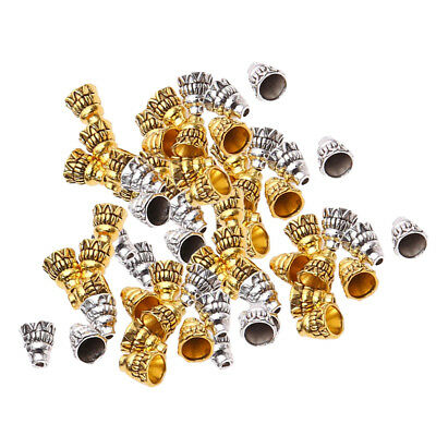 100Pcs Antique Tower Jewelry Tassel End Bead Cones Cap DIY Jewelry Findings