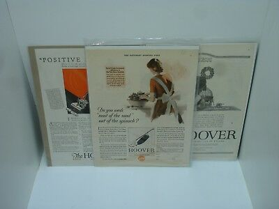 ANTIQUE HOOVER VACUUM CLEANER ADVERTISEMENTS MODEL 700 - 800? 1920s - 1930s LOT