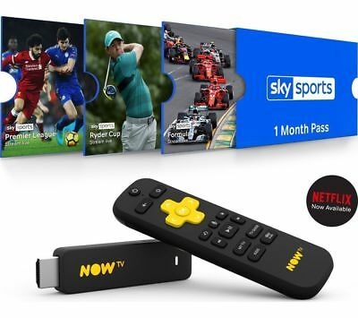 NOW TV Smart Stick Full HD 1080p  New with PRE INSTALLED 1 Month Sky Sports Pass