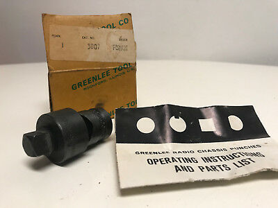 """Greenlee Radio Chassis Knockout Punch 7/8"""" Round No 730"""