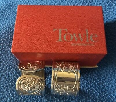 Towle Silver plated Napkin Rings #4178 Box top only VINTAGE