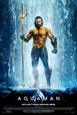 Aquaman Original Movie Poster DS 27x40 Double Sided V2