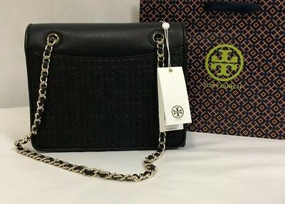a246356b4cb8 NWT TORY BURCH Bryant Quilted Leather Medium Flap Shoulder Bag ...