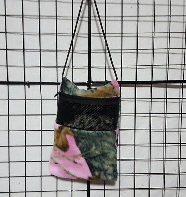 Pink Mossy Oak * 7 x 9 bonding pouch with neck strap