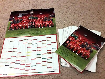 12 X Liverpool F.c. - European Champions 2005 Fixture Lists With Team Picture