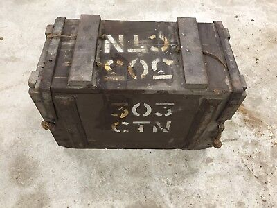 BRITISH 303 CTN AMMO Ammunition Wooden BOX ( Empty ) COLLECTORS