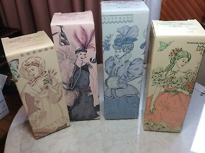 Avon Fashion Of American Times Collectible Porcelain Dolls Lot of 4 Sealed NIB