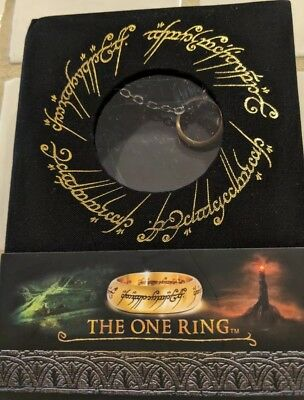 """Lord of the Rings The One Ring 24"""" Stainless Steel Chain by Noble  NEW*FREE ✈️*"""