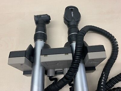Keeler Ophthamoscope/Otoscope double Wall/Desk Base + 2 Heads (NO Mains Supply)