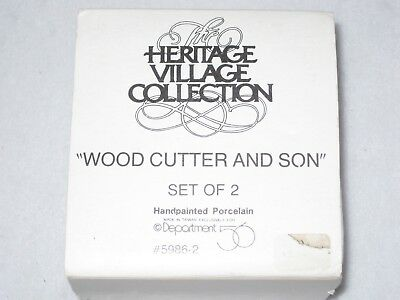 Wood Cutter And Son Department 56 New England Village Set Of 2 1988 5986-2