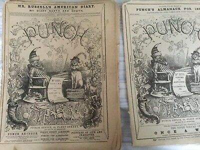 Antiquarian Collection, Vintage 'Punch' Newspapers. From Jan - Dec 1863