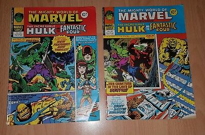 The Mighty World Of Marvel Comics x 2 Numbers 298 & 299 June 1978